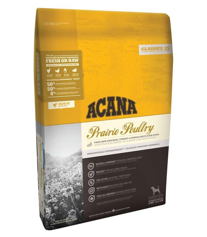 Acana adult prairie poultry dog 11,4 Kg classics 25