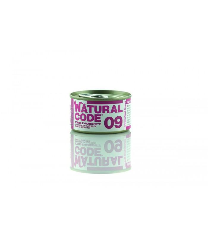 Natural code 09 tonno e gamberetti 85 gr