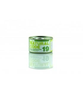 Natural code 19 gatto pollo asparagi e riso 85 gr