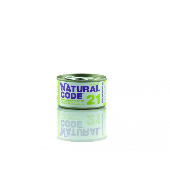 Natural code 21 tonno agnello e patate jelly 85 gr