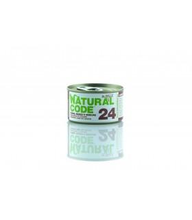 Natural code 24 tonno manzo e verdure jelly 85 gr