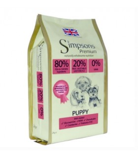 Simpsons Premium puppy 80/20 mix pesce e pollo trial bag 500 gr