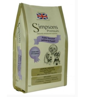 Simpsons Premium puppy sensitive salmone e patate trial bag 500 gr