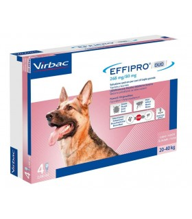Effipro duo cane spot-on 268 mg 20-40 kg 4 pipette