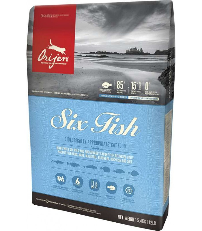 Orijen gatto six fish 5,4 kg