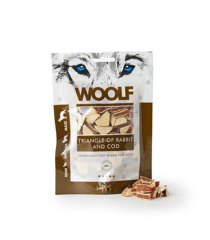 Woolf triangolini di coniglio e merluzzo 100 gr