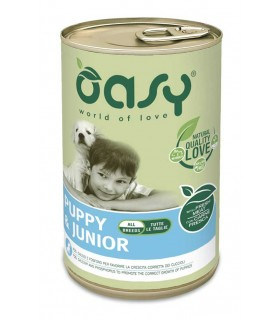 Oasy cane puppy & junior lifestage pate umido 400 gr