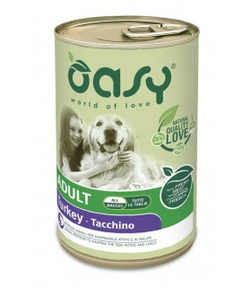 Oasy cane adult lifestage tacchino pate umido 400 gr