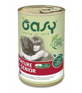 Oasy cane adult lifestage mature & senior pate umido 400