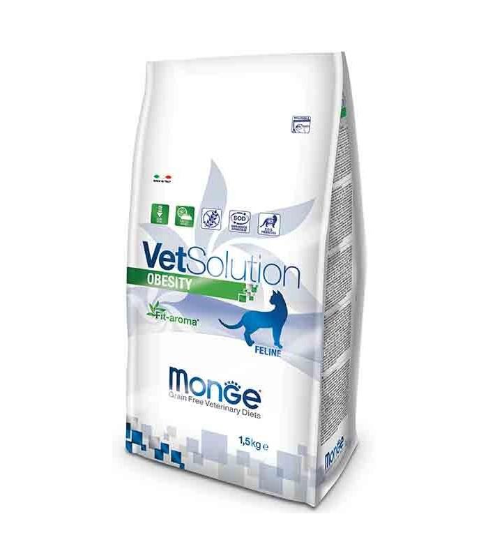 Monge vetsolution gatto obesity 1,5 kg