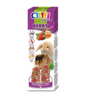 "Cliffi sticks conigli - cavie ""berry"" 110 gr"
