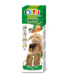 "Cliffi sticks conigli - cavie con ortaggi e miele ""greeny"" 110 gr"
