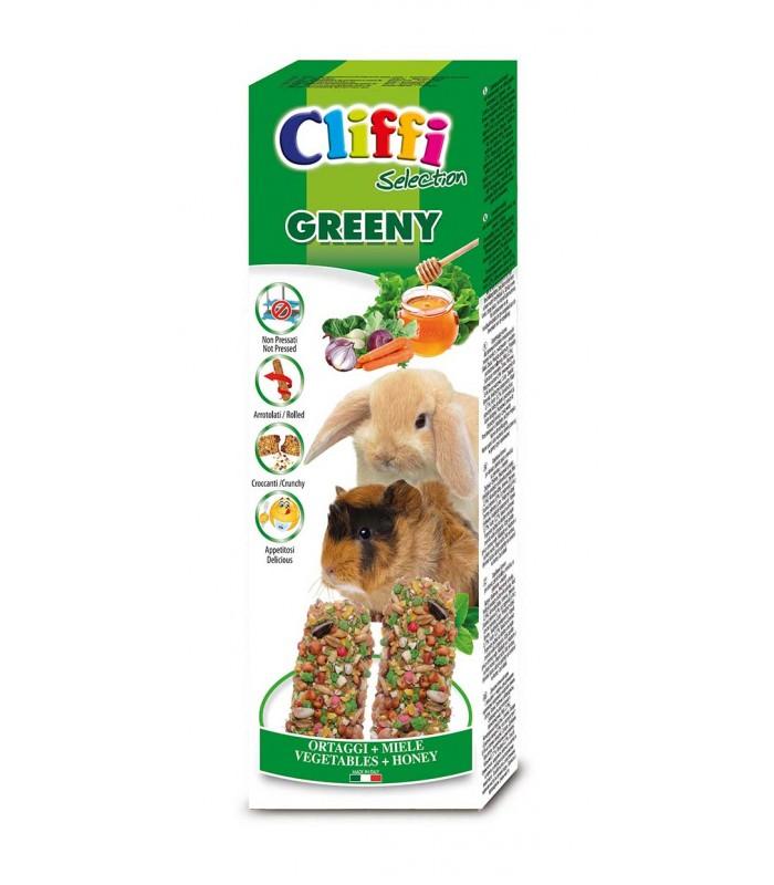 """Cliffi sticks conigli - cavie con ortaggi e miele """"greeny"""" 110 gr"""