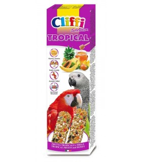 "Cliffi sticks pappagalli con f. tropicali e miele ""tropical"" 150 gr"