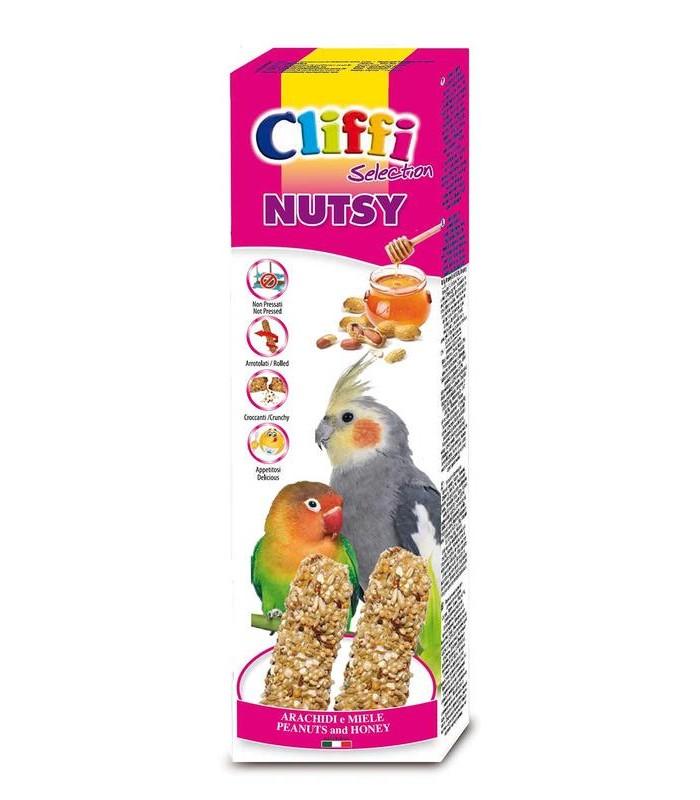 """Cliffi sticks parrocchetti con miele e arachidi """"nutsy"""" 150 gr"""