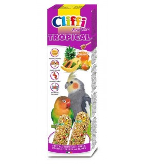 "Cliffi sticks parrocchetti con f. tropicali e miele ""tropical"" 150 gr"