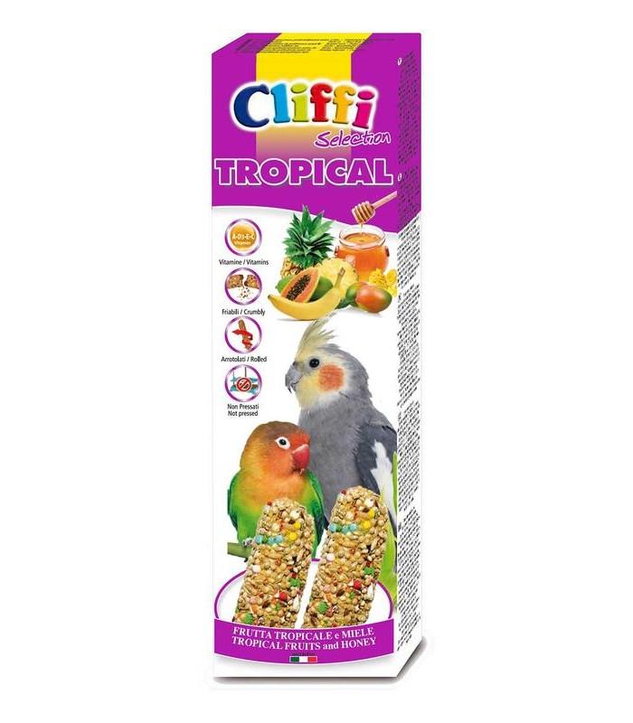 """Cliffi sticks parrocchetti con f. tropicali e miele """"tropical"""" 150 gr"""