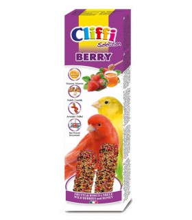 "Cliffi sticks canarini con frutti di bosco e miele ""berry"" 60 gr"