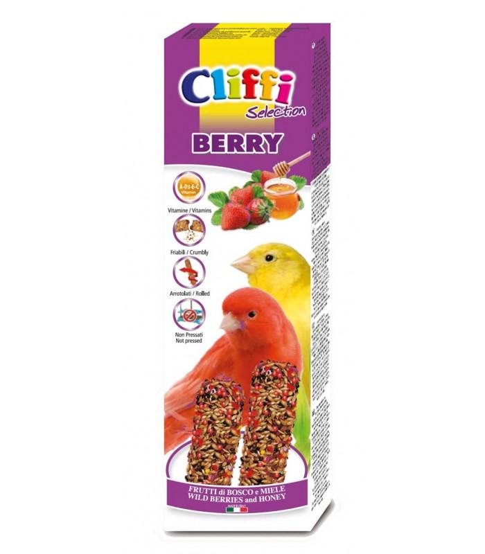 """Cliffi sticks canarini con frutti di bosco e miele """"berry"""" 60 gr"""