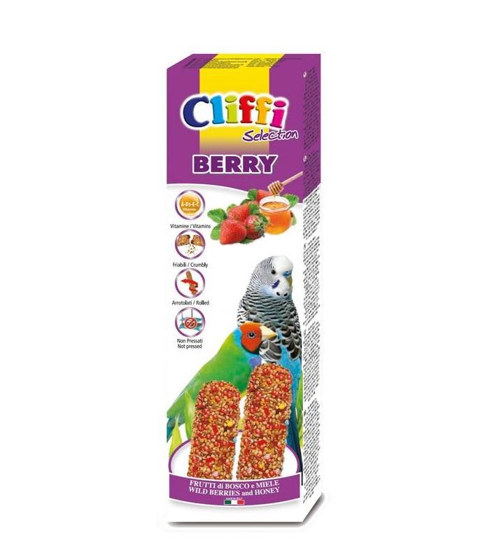 """Cliffi stick pappagallini esotici frutti di bosco e miele """"berry"""" 60 gr"""
