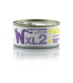 Natural code xl 2 gatto tonno e sardine 170 gr
