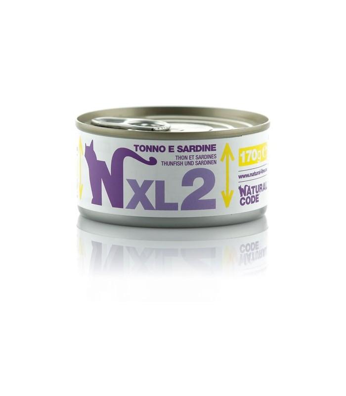 Natural code xl 2 gatto tonno e sardine 170 gr