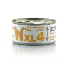 Natural code xl 4 gatto filetti di pollo 170 gr