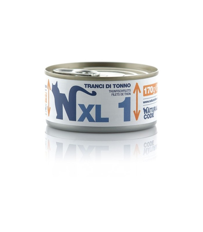 Natural code xl 1 gatto tranci di tonno 170 gr