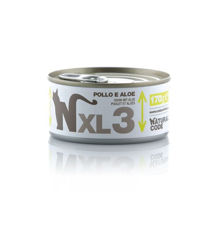 Natural code xl 3 gatto pollo e aloe 170 gr