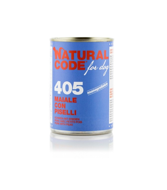 Natural code 405 cane maiale con piselli 400 gr