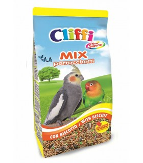 Cliffi new superior mix parrocchetti 1 kg con biscotto