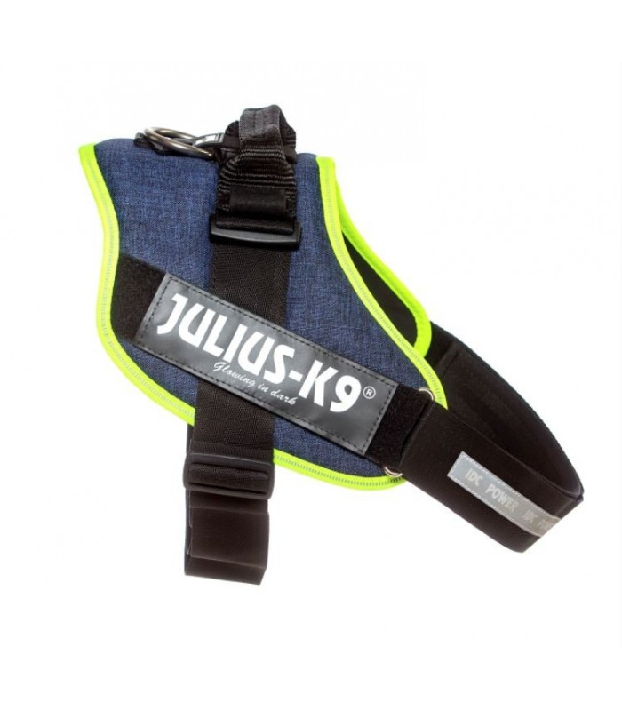 Julius k9 pettorina Idc Power Harnesses DENIM NEON Tg. 3