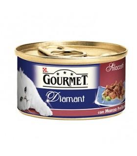 Gourmet diamant sfilaccetti con manzo prelibato 85 gr