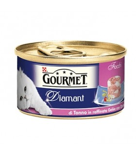 Gourmet diamant fiocchi di tonno in gelee con orata 85 gr