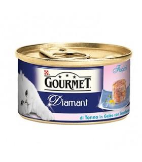 Gourmet diamant fiocchi di tonno in gelatina con gamberetti 85 gr