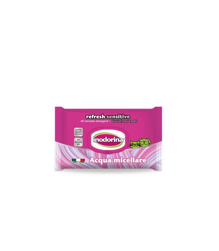 Inodorina refresh sensitive salviette all'acqua micellare