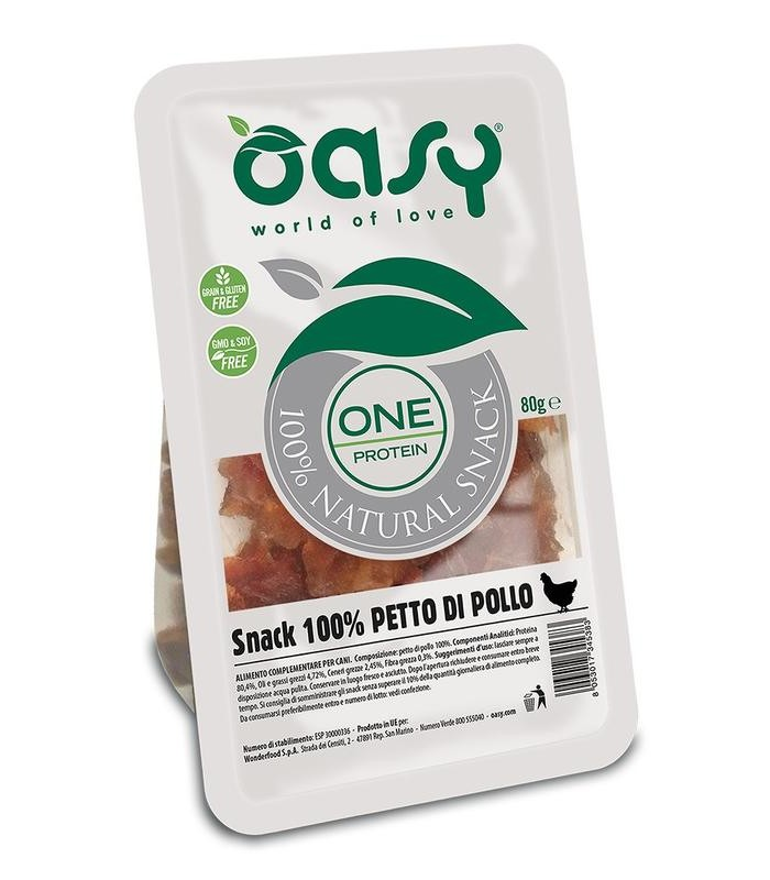 Oasy snack cane oneprotein pollo 80 gr
