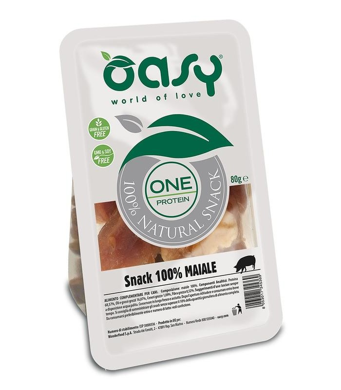 Oasy snack cane oneprotein maiale 80 gr
