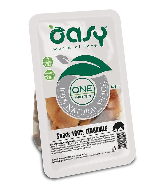Oasy snack cane oneprotein cinghiale 80 gr