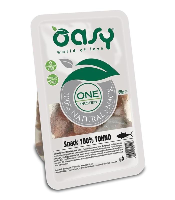 Oasy snack cane oneprotein tonno 80 gr