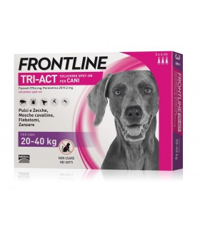 Frontline tri-act 3 pipette 4 ml 20-40 kg