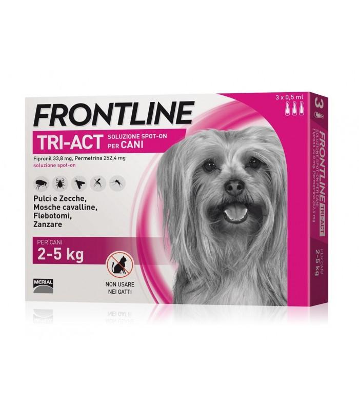 Frontline tri-act 3 pipette 0,5 ml 2-5 kg