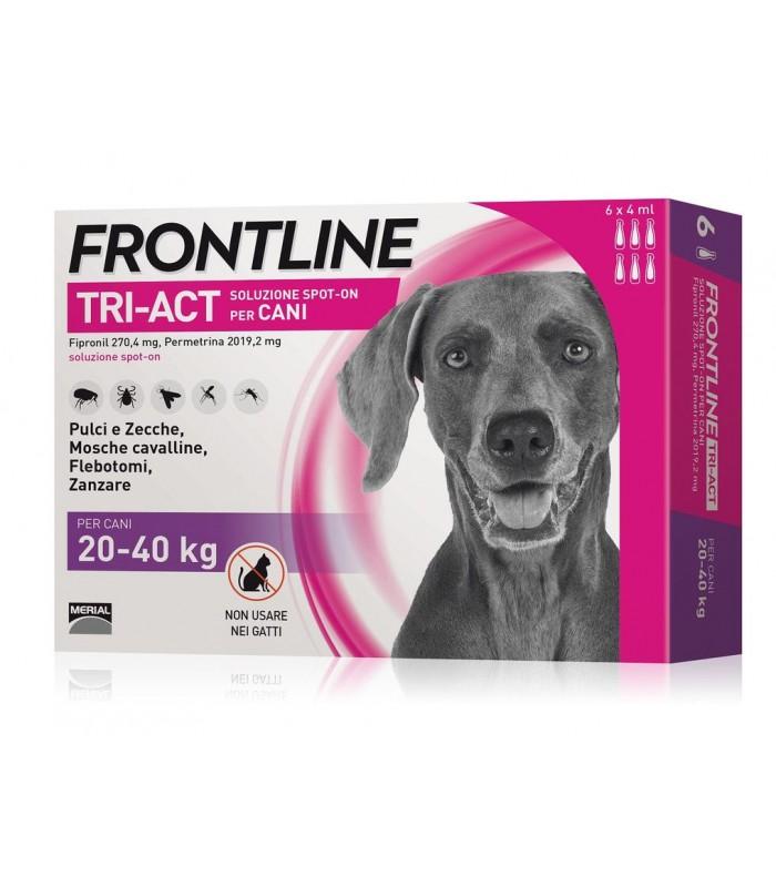 Frontline tri-act 6 pipette 4 ml 20-40 kg