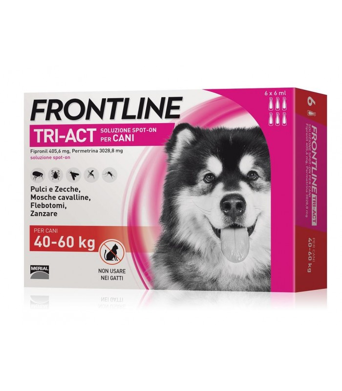 Frontline tri-act 6 pipette 6 ml 40-60 kg