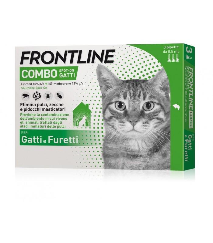 Frontline combo gatti 3 pipette 0,5 ml