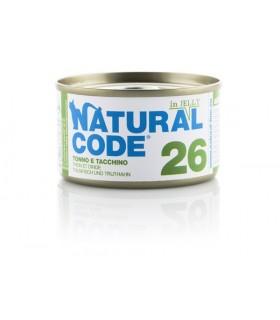 Natural code 26 gatto tonno e tacchino jelly 85 gr