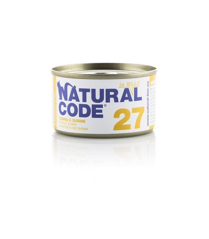 Natural code 27 gatto tonno e surimi jelly 85 gr