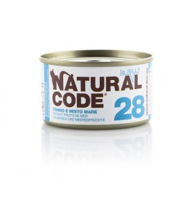 Natural code 28 gatto tonno e misto mare jelly 85 gr
