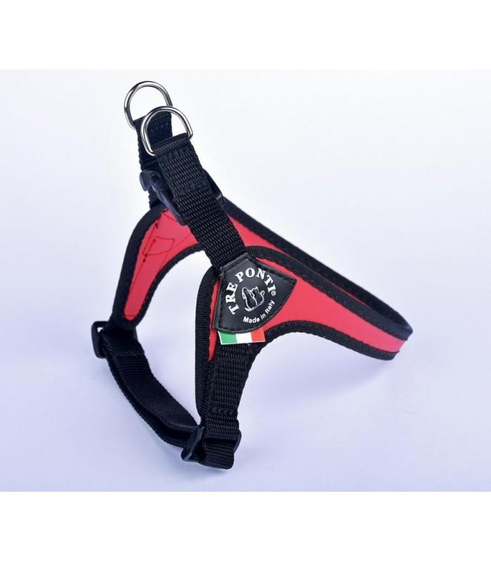 Tre Ponti pettorina easy fit sottopancia regolabile misura 1 rosso