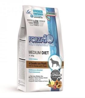 Forza 10 cane medium diet low grain al cavallo e piselli 12 kg